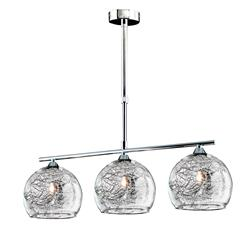 LAMPARA SELENA 3L CROMO D63
