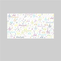 APLIQUE LED CUAD. IMPRESION MUSIC 9W 4200K