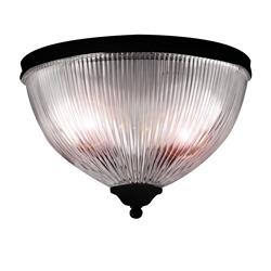 PLAFON MOSCU CRISTAL MARRON LED 35 CM 28W 3 IN 1