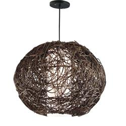 COLGANTE RATTAN COLOR MARRON D40