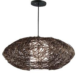 COLGANTE RATTAN COLOR MARRON D60