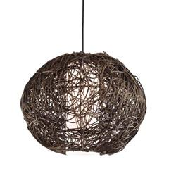 COLGANTE RATTAN COLOR MARRON D30