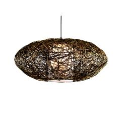 COLGANTE RATTAN COLOR ENV.ORO D60