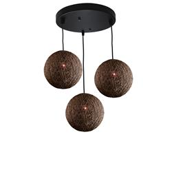 PLAFON HILOS 3 LUCES MARRON SERIE MIRTO