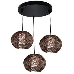 COLGANTE RATTAN 3 LUCES MARRON