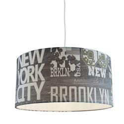 COLGANTE BROOKLYN 1L D40 COLOR GRIS